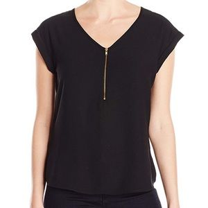 Lark and Ro gold zipper top size small